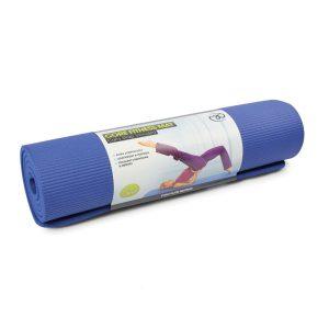 Blauwe core fitness mat 10 mm dik