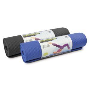 Core fitness mat in de kleur blauw of zwart