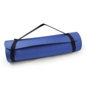 Pilates mat van 10 mm dik Core Fitness met afneembare schouderriem