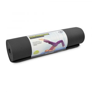 Zwarte Core Fitness mat verkrijgbaar op yoga-pilatesshop