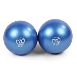 Lichtgewicht ballen voor oefeningen 0.5 kg per twee stuks op Yoga-Pilatesshop