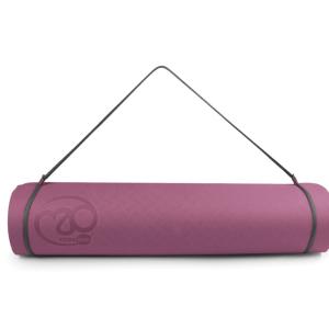 Dikke yoga mat evolution in de kleuren aubergine en grijs