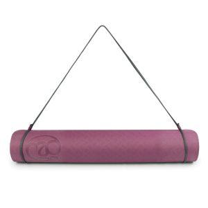 Yoga mat kopen? Evolution mat 4 mm aubergine en grijs
