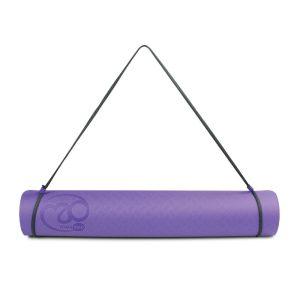 Duurzame yoga mat evolution 4 mm in paars met grijs