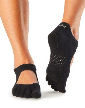 Antislip Sokken Met Tenen Prima Bellarina Zwart - ToeSox