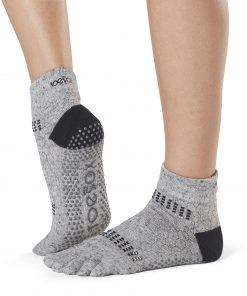 Antislip Sokken Met Tenen In Jet - ToeSox