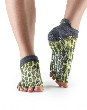 sokken zonder tenen in citroen zijn direct te bestellen bij Yoga-Pilatesshop