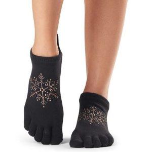 huissokken met antislip in Dasher met afzonderlijke tenen houd je tenen bewegelijk