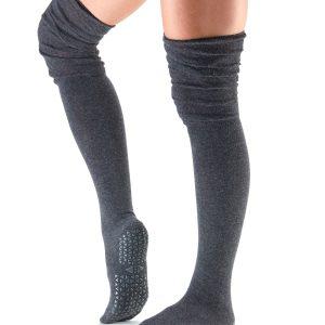 kniehoge antislip sokken Tavi Noir Charlie Charcoal bestel je online bij Yoga-Pilatesshop