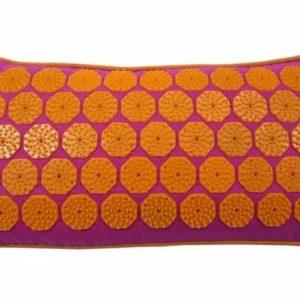 Spijkerkussen Flowee Fuchsia Oranje