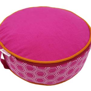 Meditatie kussen flowee in de kleur fuchsia