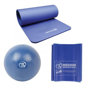 Pilates Sport Set Basis met bal, mat een weerstandsband