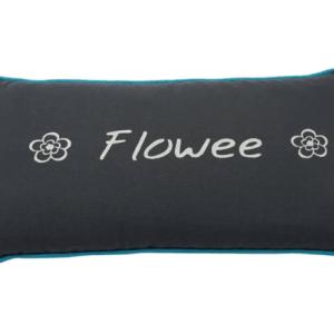 Spijkermat kussen Flowee grijs blauw bij yoga-pilatesshop