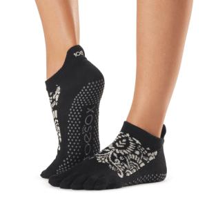 ToeSox antislip sokken enkel met tenen soir
