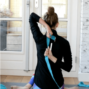 Yoga riem Flowee in turqouise