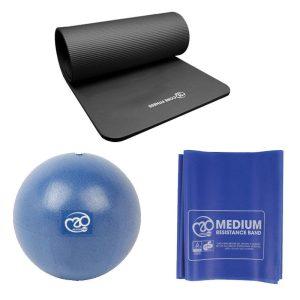 pilates sportset basis met mat, bal en weerstandsband