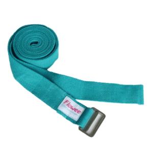 yoga riem flowee in de kleur turqouise