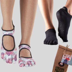 Cadeau set actie! Twee paar sokken en een verrassingsthee bij Yoga-Pilatesshop!