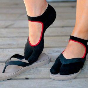 Antislip sokken Sissel met één teen voor pilates en yoga