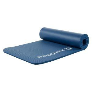 Pilates mat 15 mm deluxe in de kleur blauw