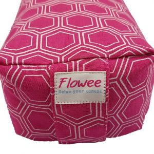 Yoga bolster van Flowee in klein formaat kleur fuchsia roze