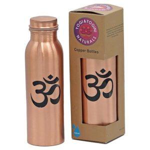 Yoga & Yogini koperen waterfles verkrijgbaar op Yoga-pilatesshop