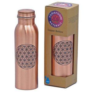 Yoga & Yogini koperen drinkfles verkrijgbaar op Yoga-pilatesshop