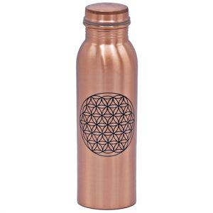 Koperen drinkfles bloem des levens op Yoga-Pilatesshop van het merk Yogi & Yogini