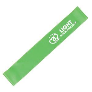 Weerstandsband fitness mini power loop light groen op Yoga-Pilatesshop
