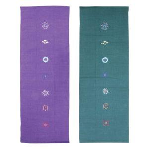 Katoenen yoga deken chakra in de kleur groen. De originele Indiase yoga mat!