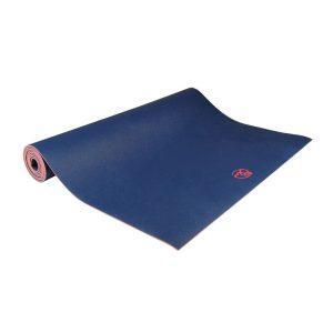 yoga mat 4mm in de kleur blauw op Yoga-Pilatesshop