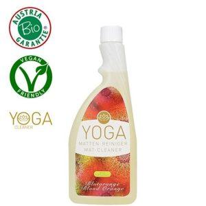 Yogamat reiniger bloedsinaasappel desinfecteerd jouw mat. Nu verkrijgbaar op Yoga-Pilatesshop!