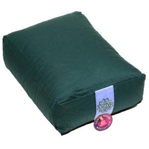 Meditatiekussen rechthoekig groen of zwart shop je op Yoga-Pilatesshop!