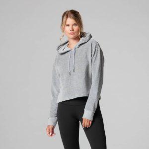 Deze semi cropped hoodie van Tavi Noir voor na het sporten