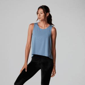 Tanktop dames in slate blue op Yoga-Pilatesshop