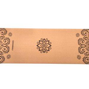 Yoga mat Sun Eclipse van het merk Samarali gemaakt van kurk nu te koop bij Yoga-Pilatesshop.nl!