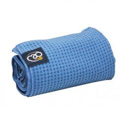 Antislip handdoek blauw direct online bestellen bij Yoga-pilatesshop.nl