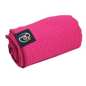 Antislip handdoek roze geschikt voor yoga en pilates oefeningen