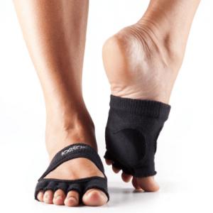 antislip sokken als halve sok zonder tenen waardoor je nog meer grip hebt bij het dansen
