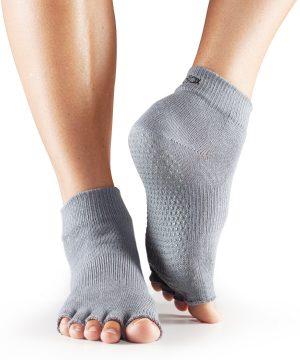 antislip sokken grijs voor heren en dames kopen bij yoga-pilates shop in utrecht