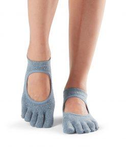 antislip sokken in bellarina met hele tenen kun je direct online bestellen bij yoga-pilatesshop.nl