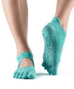 antislip sokken in de kleur aqua van ToeSox direct online te bestellen bij yoga-pilatesshop in utrecht