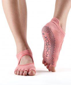 antislip sokken in het model bellarina zonder tenen zijn ideaal voor pilates, yoga, barre of piloxing