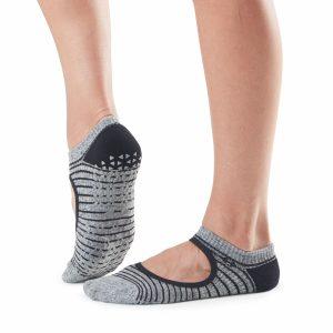 antislip sokken met hoge dichtheid van Tavi Noir in Moon Stripe direct online te bestellen bij yoga-pilatesshop in utrecht