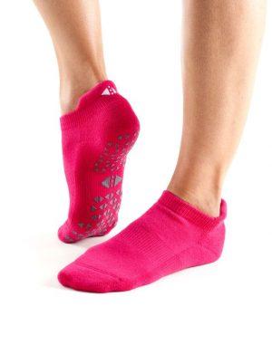 antislip sokken van tavi noir in de kleur roze kopen bij yoga-pilatesshop utrecht