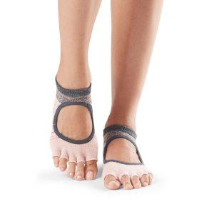 antislip sokken van ToeSox zonder tenen bellarina in Flurry koop je voordelig en snel online bij yoga-pilatesshop.nl