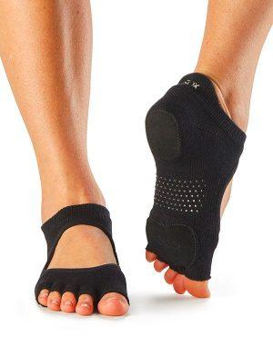 antislip sokken voor dansen zonder tenen in zwart kopen bij yoga-pilatesshop