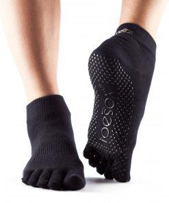 antislip sokken zwart met tenen van ToeSox kopen bij yoga-pilates shop in utrecht