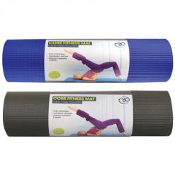 Dikke pilates mat kopen van 10mm van fitnessmad online bij yoga-pilatesshop zwart en blauw