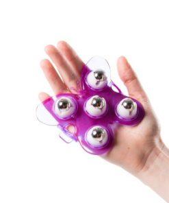 Flowee massage handschoen paars voor kinderen